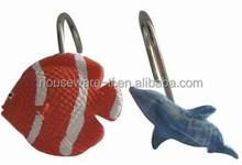 Fish design decorative curtain tieback hooks,luxurious curtain tiebacks hooks