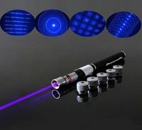 100mW 405nm blue violet laser pointer with five laser heads 5 in 1 laser pointer