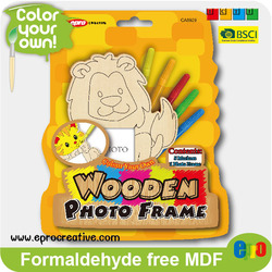 EPRO CA8929A new arrival diy miniature photo frame models wooden toys, lion design color your own wooden set