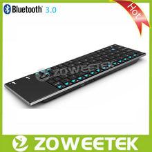 Wholesale OEM customizable slim wireless bluetooth keyboard with touchpad