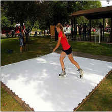 uhmwpe Synthetic Ice panel to build a ice skating rink Hockey synthetic ice rink
