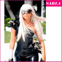 Wholesale Cosplay Wigs Straight Wig For Women Synthetic Hair Heat Resistance Lady GaGa Cosplay Hair Free