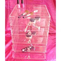 Custom Acrylic drawers, acrylic organizer, 5 drawer acrylic makeup organizer
