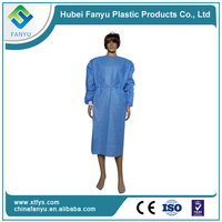 disposable SMS nonwoven medical isolation surgical gown