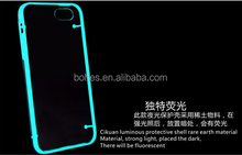 Night glow TPU+PC hybrid transparent back cover for iphone6 plus