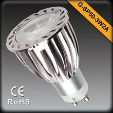 LED GU10 Spotlight 6W Warm white Aluminum Housing