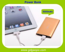 Hot selling portable ultra-thin power bank5000mAh Electric Type and Mobile Phone Use power bank