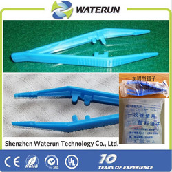 resin whole new material disposable plastic tweezers, asepsis medical plastic tweezers supplier