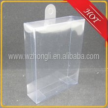 transparent plastic pvc packing gift box with circle hook