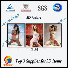 3d picture of sexy woman/3d lenticular images/3d flip lenticular pictures