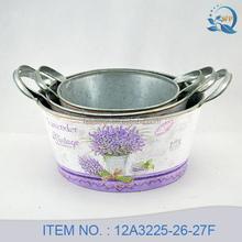 Lavender Design Stack Metal Garden Pots