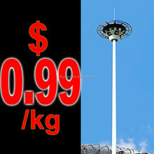 double arms polyester or powder coated tapered light post