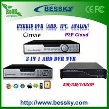 ahd dvr ip,ahd dvr digital video recorder,720p supporting p2p cloud