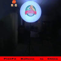 PVC colourful LED stand balloon in China meet CE ROS Hcerificate.