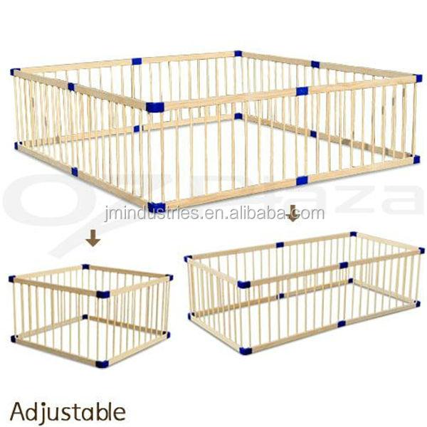 en71 standard bois de pin massif grand parc pliables pour. Black Bedroom Furniture Sets. Home Design Ideas