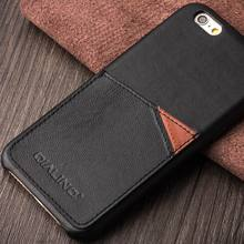 QIALINO High Class Highest Level Leather Mobile Phone Case Neck Strap For Iphone 6 Customizable