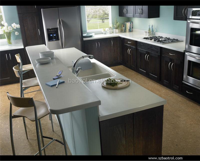 Moderna cocina isla diseño mediados finales de hecho por el hombre ...