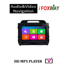 Android sportage dvd gps navigation radio tv bluetooth with multi-language voice prompt