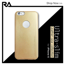 Ultra thin Lux Gold premium PU leather case for iPhone 6 Plus 6s Plus