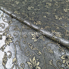 el patrón de flores de tapicería jacquard material