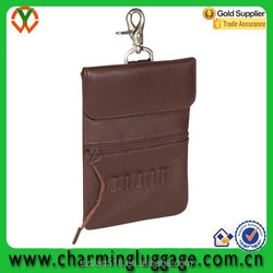 waterproof leather clip-on golf accessory bag/golf tee holder pouch bag