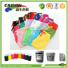 Fluorescent Cerise Eco friendly pigment paste for T-shirt dyeing from China