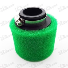 Pit Dirt Bike Motorcycle Parts Straight Neck Dual Foam Air Filter High Flow 38mm