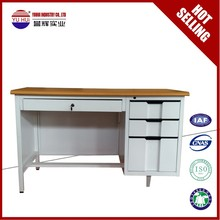 powder coating modern office desk grey white export to India