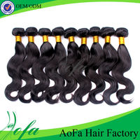 Top quality reinforced wefts natural black virgin hair weaving
