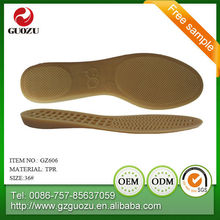 tpr durable shoe sole material of lady sandal slippers