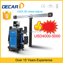 decat 3D wheel alignment service for tire shop V3DII