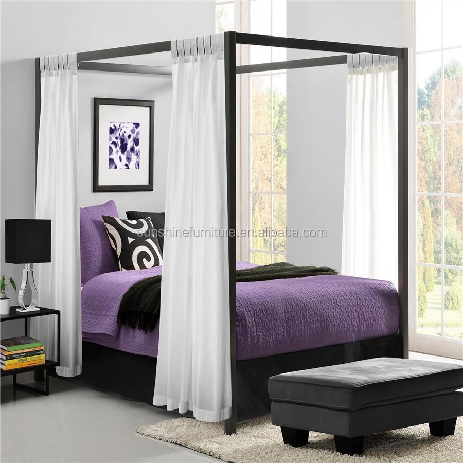 King size queen size moderna m veis de metal luxo moderno for Pabellon para cama king size