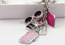 Customized Fashion Bling Key Chain / Rhinestone Metal Keychain / Fashion Jewelry Wholesale
