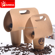 2 pack coffee cup drink paper carriers