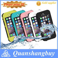 """Newest Full Button Fingerprint Touch Waterproof Phone Case For iphone 6 4.7"""""""