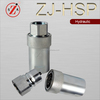 ZJ-HSP stainless steel quick disconnect couplings,quick release coupler ,hydraulic fittings bsp