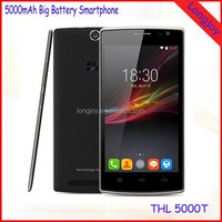2015 Best Battery Mobile Phone THL 5000T 5 Inch HD Screen MTK6592M Octa Core 8GB ROM Android 4.4 5000mAh Big Battery Phone