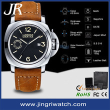 military watches 10 ATM water resistant,new army military leather strap fashion military watch for men