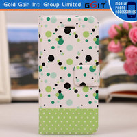 With Card Holder Flip Cover for iPhone 5 Case of PU+PC or PC+TPU