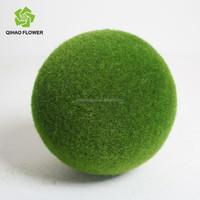 moss ball wreath/decorative green moss balls/topiary moss balls