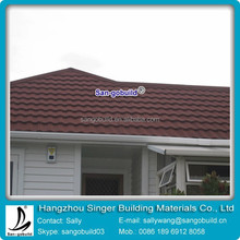 San-gobuild natural colorful stone coated metal roofing materials