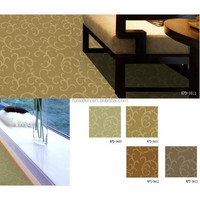 Fire Resistance PP tufted carpet colorful wall to wall floral pattern hotel carpet