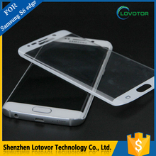 3D Curved Edge Tempered Glass Anti Blue Light For S6 Edge Screen Protector With Design