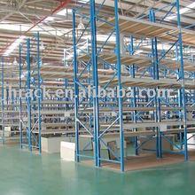 Heavy duty galvanized mesh decking storage racking