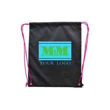promotional custom made polyester basketballdrawstring backpack