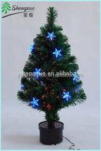 2015 Fashional New arrival Mini LED Fiber Optic Christmas Tree With Blue Stars