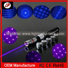 wholesale 5mw to 200mw 5 in 1 405nm Blue violet laser pointer pen with five laser