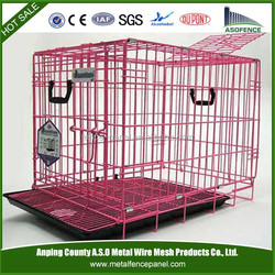 Dog Cage Kennel Protable Metal Folding Puppy Cage