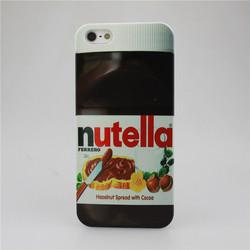 Nutella Design Smooth Hardened Plastic Phone Case for Apple iPhone 4 4S 5 5S 5C 6 6 Plus