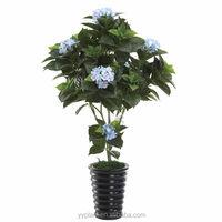 0127 wedding deco wholesale bonsai pots dried hibiscus flowers artificial hydrangea